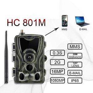 cgjxs Hc801m 2g rastro de la caza cámara de 12MP 940nm 1080p Ip65 Mms fauna de la cámara de alimentación de Deer Hunters Foto Trampas de visión nocturna Chasse T191213