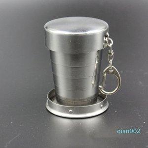 1PC mini Collapsible60ml Copa alcohol acero inoxidable portátil de viaje Copa Lavado taza de vino al aire libre práctica sui0176 Recipientes
