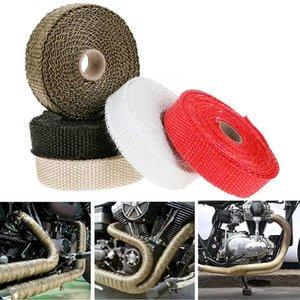 5x2.5cm Araba Motosiklet Yanmaz Turbo Manifold Isı Egzoz Motosiklet Termal Wrap Tape damla 5adet Paslanmaz Bağları