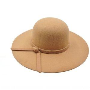 ERuMx britannique Mao mao style laine de laine en vedette Big Eaves chapeau de laine chapeau féminin