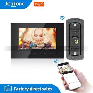 Video Door Phones Tuya Smart App WiFi 7 Inch Phone Intercom System With AHD Wired Doorbell Camera Remote Unlock Motion Detection