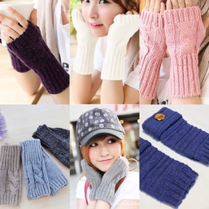2020 Korean style new fashion woolen knitted half finger Wristband wool Gloves wool gloves open finger wristband daily necessities