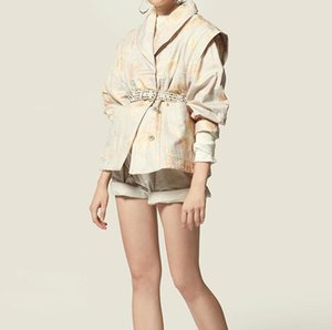2020 new raine jacket printed straight Tie-Dye Print cotton Shawl Collar Padded short jacket coat
