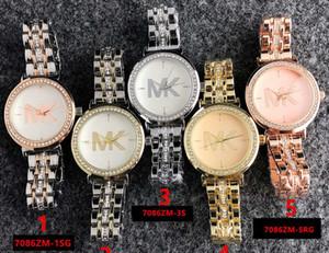 las mujeres del reloj de 36 mm reloj de diamantes mujer Marca señoras digitales sencillo vestido de lujo de regalo para mujer del reloj de oro rosa relojes de pulsera