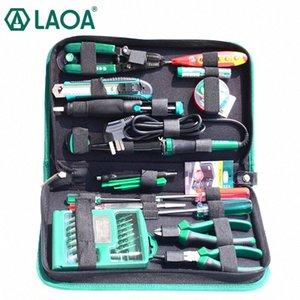 LAOA 52pcs ferramentas de reparo eletrônicos definido dentro de 32 em 1 chaves de fenda precisas Solda Elétrica Ferro cortador de fio Faca K6BW #