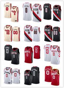 HoustonRoket Russell 0 Westbrook Formalar James 13 Harden Formalar 0 Damian Lillard 00 Carmelo Anthony Portlandizblazer ceket