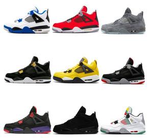 2020 Free Shipping 4 NEW Basketball Shoe 4S Men Loyal Blue White Cement Pure Black Cat Royalty Men Sports Sneaker
