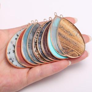 Fascini di pietra naturale pendenti a forma di goccia pietra semi-preziosa per monili che fanno orecchini bracciali Beadwork fai da te