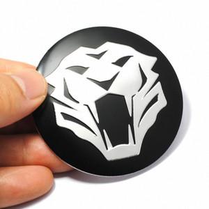 4 pezzi 56 millimetri sterzo della tigre della testa dell'automobile Pneumatico Ruota Centro Sticker protezione di mozzo Hubcap Sticker distintivo dell'emblema della decalcomania per Jaguar Audi BMW Nissan 38S1 #