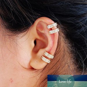 10 Pair Trendy Small Round Ear Cuff Earrings For Women Gold And Silver Plated 2 Rows Rhinestone Clip Earrings Without Piercing Accessories