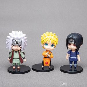 6pcs Naruto Garage Kit Model Set Doll Q Style Naruto Sasuke Kakashi I Aro Weasel Decoration Gift Anime Action Figures Kids Toys
