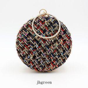 JH Black Beige New Shoulder Bags Classic Grid Women Bag Lady Round Handbags Crossbody Bags For Women Handbag Purse Hot Sale