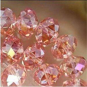 1000PC 3x4mm subiu multicolore cristal facettes Gemmes perles en vrac 5040