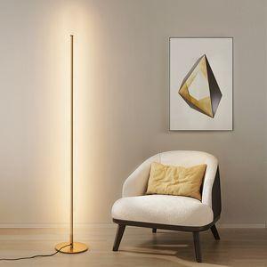 북유럽 LED 플로어 램프 수직 스트립 라운드 스틱 플로어 라이트 침실 미술 장식 거실 대기 플로어 램프 조명기구