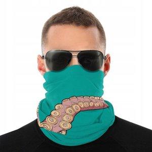 Pêche Gaiter Bandeau Cyclisme Bandana Masque cou écharpe drôle Octopus Tentacle Hand Drawn Multifonctionnel extérieur Couvre-chef