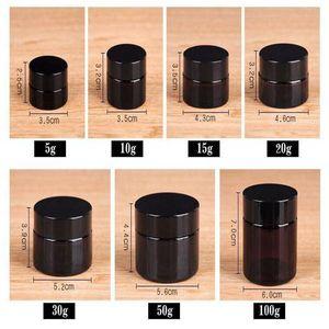 5 г 10г 15г 20г 30г 50г 100г Amber Brown стекла Крем для лица Jar Многоразовая Бутылка Косметика для макияжа Лосьон Контейнер для хранения Jar