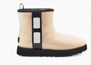 Botas de lã de alta qualidade! 2020 Botas de desenhista de inverno moda transparente pele real integrada botas térmicas de neve pvc couro mulheres botas 35-40