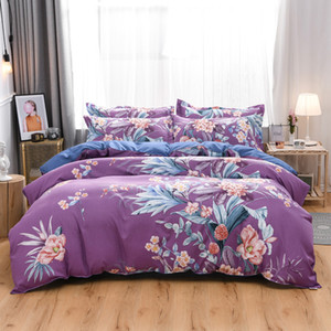 2020 Light Brown Plaid Bedding Sets Simple And Fashion Bed Linen Duvet Cover Set AB Side Bed Sheet Pillowcase Cover