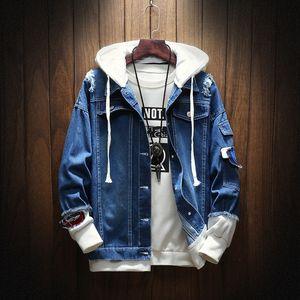 2019 autunno nuova Macheda grandi dimensioni abbigliamento casual jeans 2019 autunno nuovo Macheda casuale giacca giacca gli uomini di abbigliamento denim uomo di grandi dimensioni