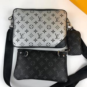 New Riefsaw Couro Mens Bag Vintage Designer Bags Bandoleira Tendência sacos de ombro Zipper Wallet bolsas Men Messenger Bag Bolso Bandolera