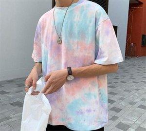 Designer Street Style T-shirts manches courtes Homme Vêtements Mode Casual Vêtements pour hommes d'été T-shirts Mens Tie Dye