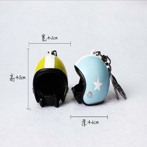 New Motorcycle Helmets Keychain Women men Cute Safety Helmet Car Key Chain Bags Charms Hot Key Ring Gift Jewelry Wholesale