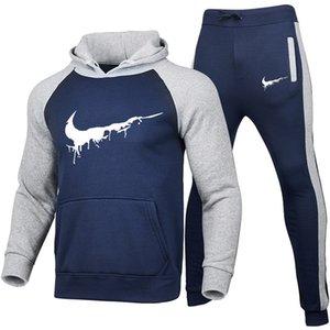 Adam giysiyi 2020 erkek kış Eşofman Tasarımcılar Kapüşonlular pantolon 2 Parça Setler Kıyafet Suits Yüksek Kalite flarge boyutu ceket kazak tasarımcılar