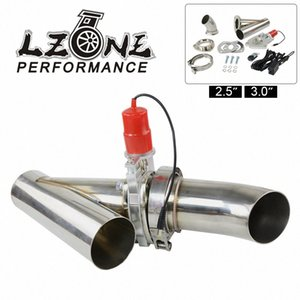 """LZONE - 2.5"""" or 3.0"""" Electric Stainless Exhaust Cutout Cut Out Dump Valve   switch with Remote control JR5295 BkdP#"""