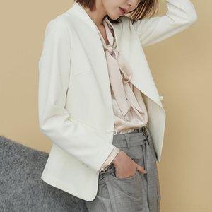 KwJYi c4Gxp Gaoke 2020 весной новый элегантный костюм небольшой V-образный вырез белого пиджак женского Gaoke 2020 handmadestyle весной новый женский небольшой элегантный су