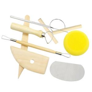 8шт / комплект многоразового Diy Pottery Tool Kit Главной Handwork Глина Скульптура Инструменты Керамик Molding Drawing