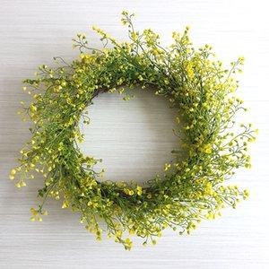 2020 New Spring Flower Mini Flowers Door Decor Rustic Home Decor Wreath Door Wreath Yellow Green
