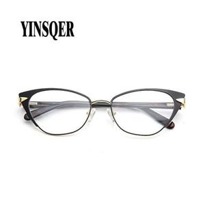 Con montura de las gafas YINSQER 2020 Marca de la Mujer de la vendimia para los hombres Light Reading miopía gafas de moda con receta marco de los vidrios