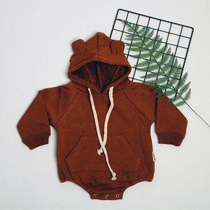 Bebek Kostüm Yenidoğan Bebek Kız Erkek Romper Kış Kapşonlu Kulak Cloak tulum Giyim Vücut Infantil İlk doğum günü vaftiz