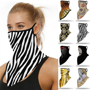 Fashion Unisex Face Mask Cycling Scarf Digital Printing Sports Bandanas Dustproof Anti-UV Face Masks Triangle Scarves Men Women Mouth Cover
