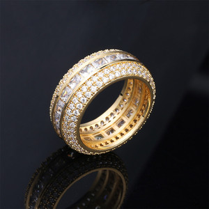 Men Diamond Rings engagement wedding rings mens iced out ring gold silver love Ring Jewelry man fashion accessories NEW
