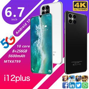 """الهاتف الخليوي الروبوت 4G الجيل الثالث 3G الهاتف الذكي 6.7 """"الهواتف الوجه مفتوح الهاتف المحمول الذكية 8G 256G المزدوج سيم الهواتف المحمولة الهاتف واي فاي"""