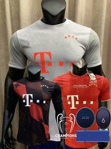 2019 2020 2021 Bayern Munich Version Joueur de Football Maillots SANE MULLER TOLISSO LEWANDOWSKI THIAGO 20 21 Joueur de football S-2XL chemise serré