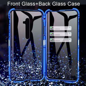 360 Double-lati della cassa del telefono vetro temperato per OPPO A5 A9 2020 Reno Z coperchio di protezione 2 2Z 3 Pro Custodia antiurto Bumper Matel