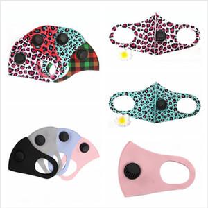 Máscaras 2styles Leopard Soild Cor PM2.5 rosto com respirável Válvula Lavável Dustproof ajustável respirável algodão cobrir a boca LJJP251