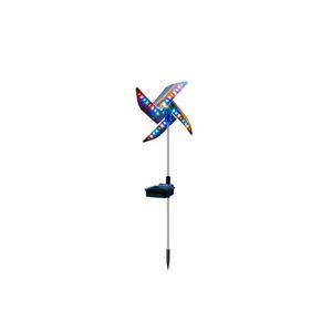 lampe moulin à vent solaire nuit lumière solaire lumières décoratives de jardin Utilisez le gyrophare pour décorer le jardin