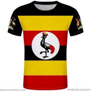 UGANDA t shirt diy free custom made name number uga T-Shirt nation flag ug ugandan country college photo print text clothes 0924