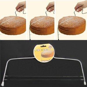 Регулируемый Проволока из нержавеющей стали Cake Layer Slicer двойной линия DIY торт резак печенье резка выпекание выпечка Инструментов