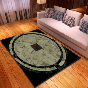 Chinese Style Living Room Carpet Ancient Coins Boys Bedroom Rug Individuality Home Decorative Bedside Flannel Parlor Area Rug