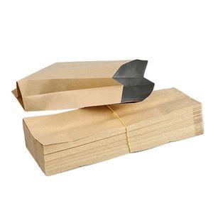 선물 가방 50 PC를 크래프트 종이 가방 파우치 빈티지 작은 크래프트 종이 방수 봉투 포장 선물 캔디 Parfume 18cm