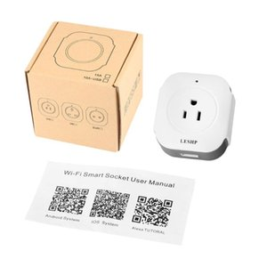LESHP Wireless Mini Socket Smart Plug With USB Output(5V 1A) Wi-Fi Smart Switch Socket APP Remote Control Outlet Timing Switch
