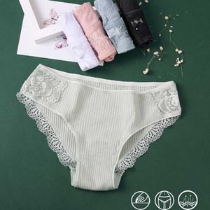 Cotton Hot Sale Panty For Women Lace Underwear Sexy Briefs Comfortable Cotton Panty Breathable Girls Soild Color Lingerie M-XL