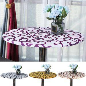 Fiesta de la boda elástico estilo de la moda moderna mesa redonda cubierta estiramiento Manteles tabla decorativa casera de tela apretado Camisetas