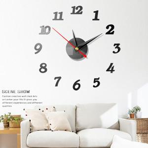 Acrílico Quartz DIY pilhas Home Decor telha cerâmica Relógio adesivos de parede