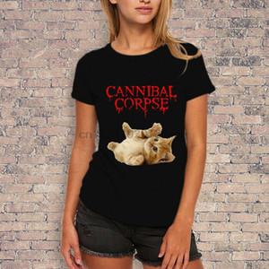 Banda de Metal Cannibal Corpse Morte T-shirt Estilo Womens
