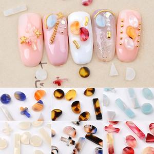 1 Box Natural Riverstones Blooming colorido âmbar Pedras Pedrinhas Jóias Detalhes no encanto DIY Nail Manicure Acessórios Art
